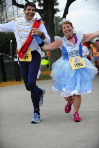 Running in EPCOT at the 2013 Disney Family 5K