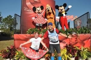 Mile 20 with Mickey, Minnie and Pluto