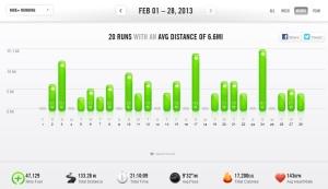 February 2013 - Nike+ Summary