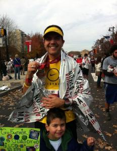 Finishing my 1st Marathon in Philadelphia, November 2011