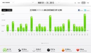 March 2013 - Nike+ Summary