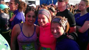 Mayela, Rina and Shari at the start line