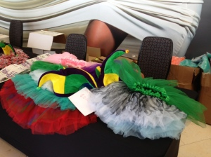Tutu's and Jester hats available for race day during packet pickup