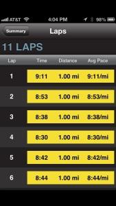 10 miles long run - 5/31/13 - miles 1-5