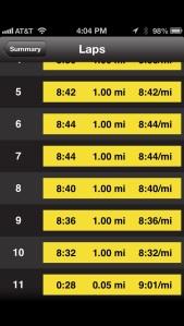10 miles long run - 5/31/13 - miles 6-10