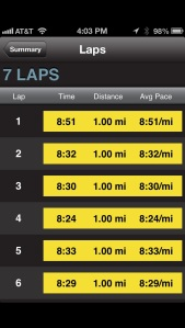 6 miles easy pace - 5/29/13
