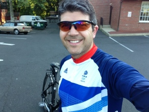 Wearing my new Team GB jersey