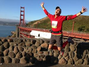 Running the Golden Gate Bridge