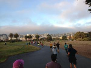 Heading through Fort Mason