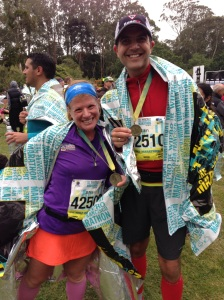 At the finish in Golden Gate Park