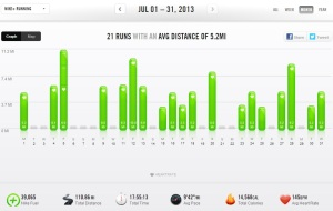 July 2013 – Nike+ Summary