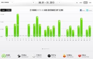 July 2013 – Nike+ Summary