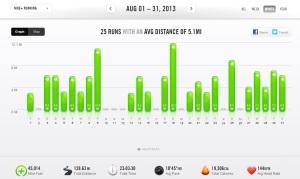 August 2013 - Nike+ Summary
