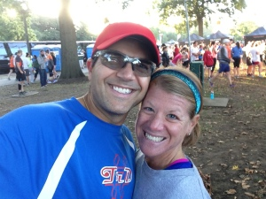 My wife and I pre-race