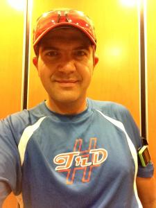 Saturday run wearing my Team runDisney shirt