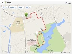 Course map - Core Creek Park, Langhorne, PA