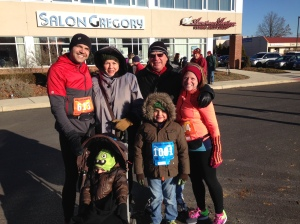 Our family just before the start of the race