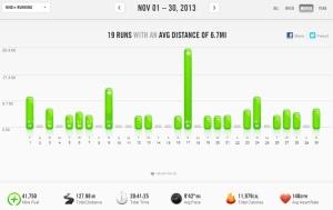 November 2013 -  Nike+ Summary