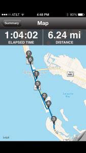 Wednesday's 6 miler