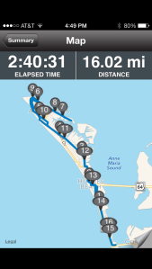 My 16 miler around the Island