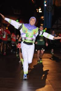 Running through EPCOT at the 2014 inaugural Walt Disney World 10K