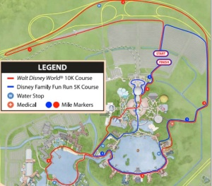 2014 Walt Disney World 5K 10K Course Map