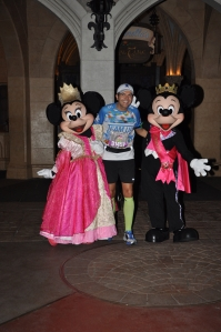 With Royal Minnie and Mickey outside Cinderella's Castle