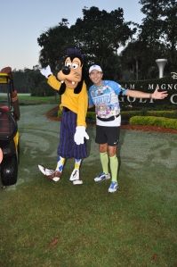 Hanging with Goofy on the golf course