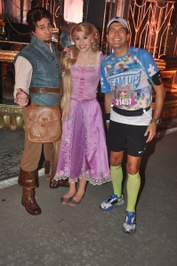 With Rapunzel and Flynn Rider (that's Eugene Fitzherbery for those that know) :-)