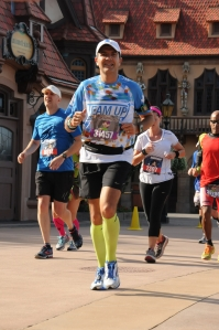 Running through World Showcase