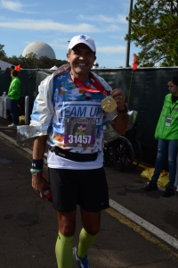 With my Mickey medal