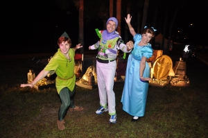 Peter, Wendy and I 'flying'