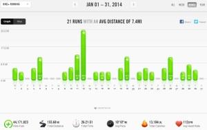 Janaury 2014 - Nike+ Summary