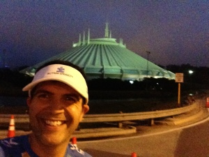 Outside the park just behind Space Mountain