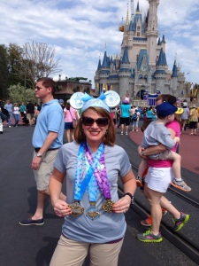 Wearing her ears with pride after completing the 2014 Glass Slipper Challenge