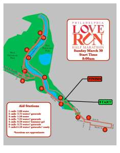 LOVE RUN Half Marathon Course