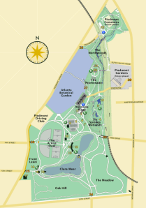 Map of Piedmont Park