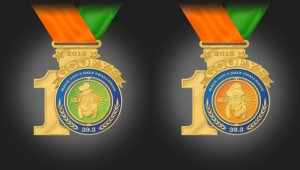 2015 10th Anniversary Goofy Challenge medal