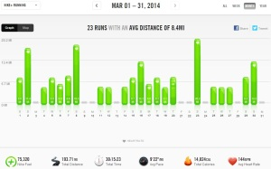 March 2014 - Nike+ Summary