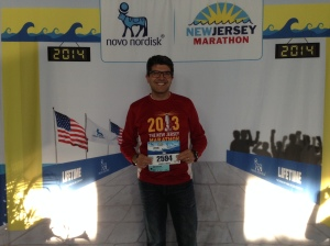 Obligatory bib photo before leaving the expo