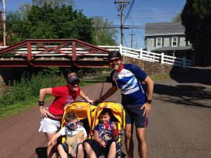 Our last stroller run. As you can see, the boys are big enough to push me.