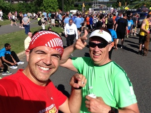 At the finish line with Joe.