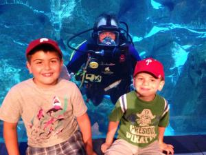 Great times at the Adventure Aquarium