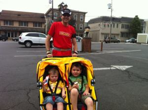 Our first stroller run - Memorial Day 2012