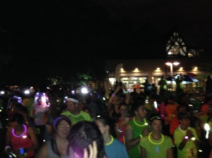 The starting area...all a glow and ready to run