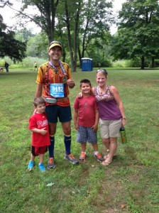 Happy to be with my family at the finish. The best cure for a bad race.
