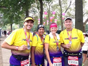 Post-race with the Mickey Milers (Janee, Brittany and Joe)