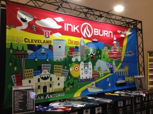 Cool artwork representing the INKnBURN brand at the Rock 'n' Roll series