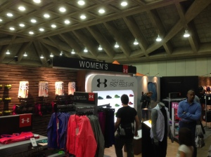 Under Armour had a decent size area set aside