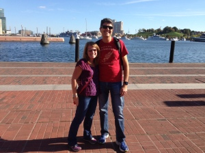 Enjoying some free time around the Inner Harbor area